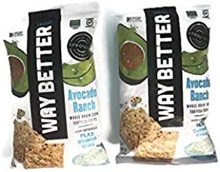 Taste These! Way Better Snacks! Avocado Ranch Flavor! 2 Packs 2oz!