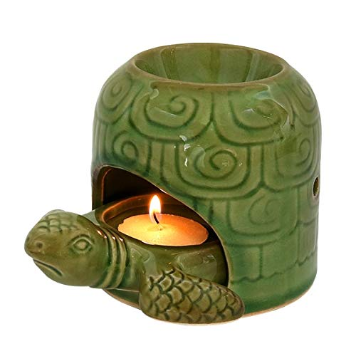 Relaxus Aromatherapy 2 in 1 Turtle Candle Diffuser & Holder (Green)