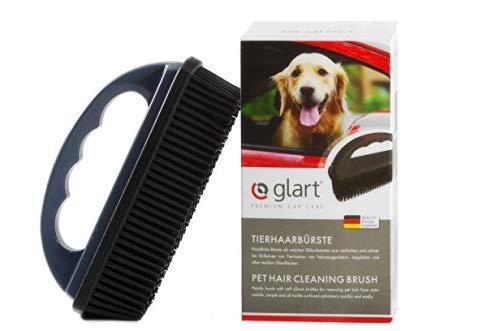 Glart 44THB Cepillo para animales y suciedad de todos los asientos de coche, tapicería, alfombras, Gris (Anthracite)/Negro