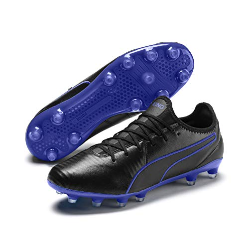 Puma Unisex-Erwachsene King Pro FG Fußballschuhe, Black-Royal Blue, 45 EU