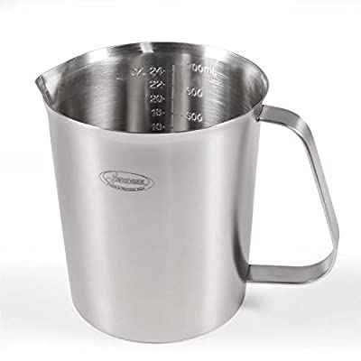Measuring Cup, [Upgraded, 3 Measurement Scales, Including Cup Scale, ML Scale, Ounce Scale], Newness Stainless Steel Measuring Cup with Marking with Handle, 24 Ounces (0.7 Liter, 3 Cup)