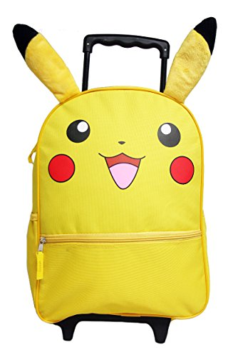 Pokemon Pikachu 16' Large Rolling Backpack with Ears