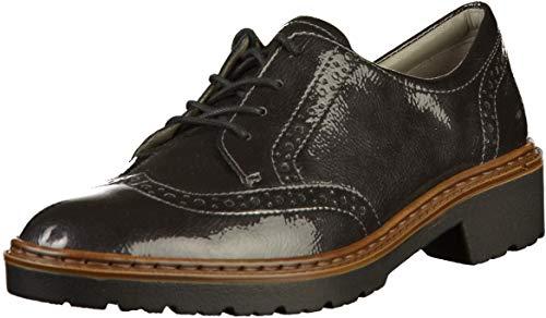 JENNY by ara Portland Ladies Lace up Shoes Gray, tamaño:40
