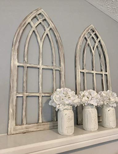 Farmhouse arched window frames