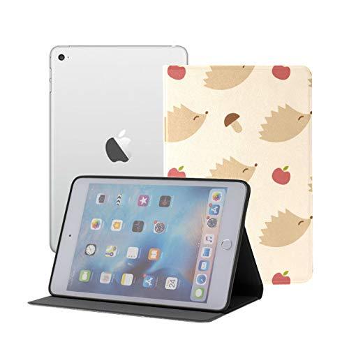 Estuche para iPad Mini 1 2 3 Animales pequeños encantadores Erizos y Setas Mini Estuche Tipo Folio para iPad iPad Mini 1/2/3 Auto Sleep/Wake con visualización de múltiples ángulos para IP