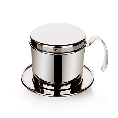 Tmtop Vietnamese Coffee Drip Filter, Stainless Steel Cup Maker Phin Infuser Sliver Best Gift for Coffee Lovers and Baristas