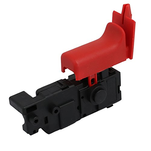 sourcing map Taladro de martillo negro del interruptor para Bosch GBH2-26DRE herramienta eléctrica adaptadores AC 250V 4A