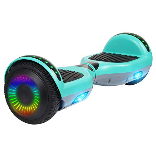 jolege Hoverboard, 6.5  Self Balancing Electric Scooter with LED Lights, Contrast-Body Bluetooth Hoverboard for Kids