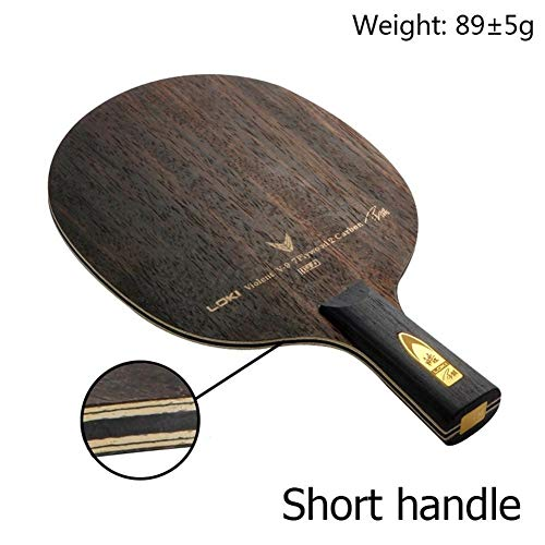 Why Choose NOLOGO TXBH V9 Professional Ebony Carbon Table Tennis Paddle Blade 9 Layers Ping Pong Bat...