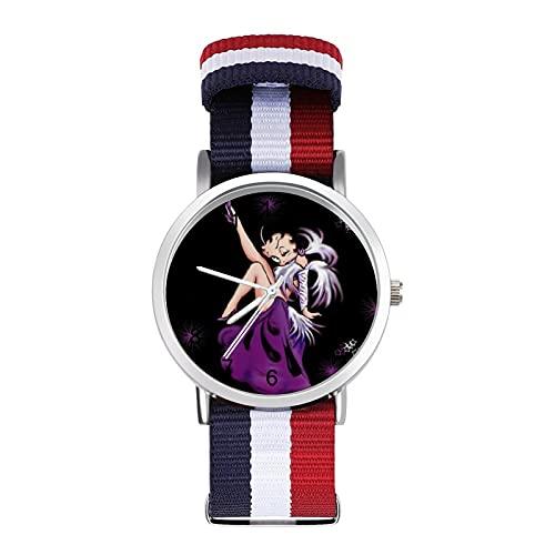 Betty Boop, orologio da polso per adulti, alla moda, bello e personalizzato in lega, stile casual, sportivo, per uomo e donna