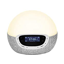 Lumie Bodyclock Shine 300 – Wake-up Light Alarm Clock with Radio, 15 Sounds and Sleep Sunset