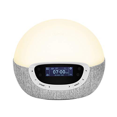 Lumie Bodyclock Shine 300 – Wake-up Light Alarm Clock with Radio, 15 Sounds and Sleep Sunset