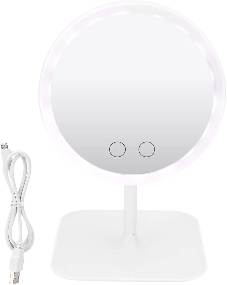 Portable LED Free Shipping New Cosmetic Mirror - 5 security Light Mi Color Desktop