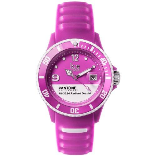 ICE-Watch - PAN.RAO.U.S.14 - Pantone Universe - Radiant Orchid - Montre Mixte - Quartz Analogique - Cadran Violet - Bracelet Silicone Violet