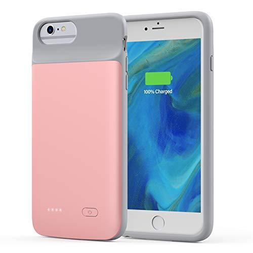 Lonlif Battery Case for iPhone 7 Plus/8 Plus/6 Plus/6s Plus, 5000mAh Portable Rechargeable Charging Case for iPhone 7 Plus/8 Plus/6 Plus/6s Plus (Rose Gold)