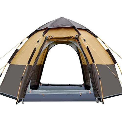 SPFAZJ TentOutdoors 5-8 People Automatic Family Tent Thickened Rainproof Camping Tent Tents Outdoor Camping Big Space Beach Tent,camel