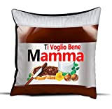 quickgadget Idea Arredo Casa Regalo Cuscino Festa della Mamma, Compleanno, Ti Voglio Bene Mamma Cioccolato