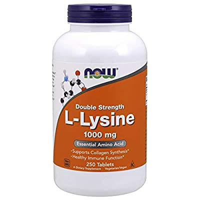 Now Foods Double Strength L-Lysine, 1000mg, 250 Tablets, 1 Units
