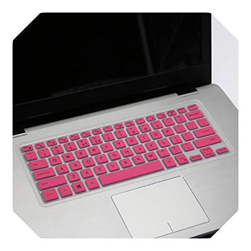 For Dell 2019 Inspiron 14 inch 5000 Series 5488 5482 5485 5481 5455 5447 i5379 i5482 i5481 i5485 laptop keyboard cover skin-pink-