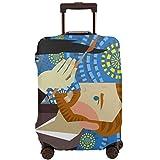JOJOshop - Protector de equipaje para pintor, pintura de una noche estrellada, funda elástica para equipaje de viaje lavable y duradero, antiarañazos, funda elástica para 45 a 32 pulgadas