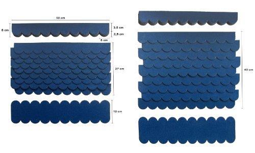 Mini Dachschindeln,Blau,Dachpappe,Vogelhäuser,Kaninchenstall,Holzgestell,Betonsäulenüberdeckung,Sandkastendächer,Hundehütte,Briefkastendächer