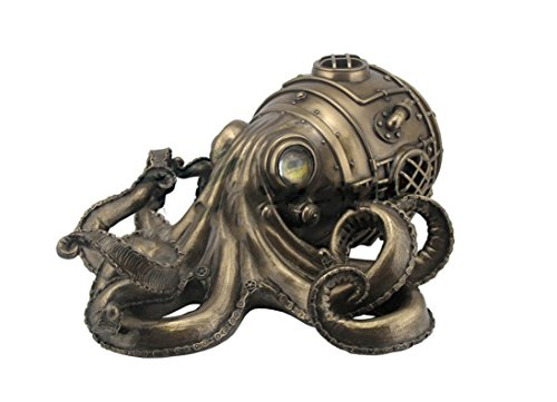 10.75' Steampunk Octopus Secret Trinket Box Decor Statue Figure Animal Sculpture