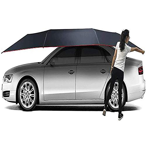 MAGO Draagbare Semi-Automatische Auto Tent Verplaatsbare Carport Vier-Seizoen Gevouwen Anti-UV Water-Proof Anti-Sneeuw Frost Ice,Auto Paraplu, Zonnescherm 350 * 210CM