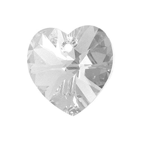SWAROVSKI Crystal 6228 Herzanhänger Swarovski MM 14,4X 14,0 Kristall 6 Stück