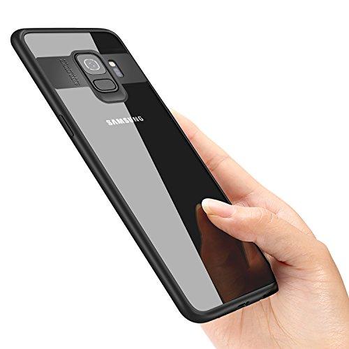 vitutech Hülle Für Samsung Galaxy S9, Galaxy S9 Schutzhülle TPU Bumper Case Premium Kratzfest Ultra Dünn Stoßfest Handhülle für Samsung Galaxy S9 Case Cover - Schwarz