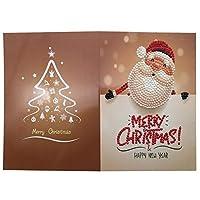 5D Diy のダイヤモンド塗装グリーティングカード特殊形状ダイヤモンド刺繍クリスマスカードポストカード誕生日クリスマスギフト-7
