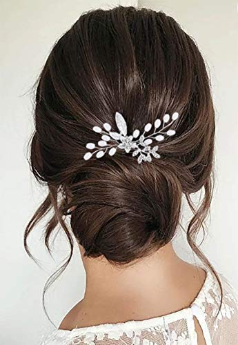 Zoestar - Horquillas para el pelo de la boda con cuentas de...