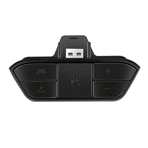 Adaptador de Auriculares estéreo Negro Adaptador de Audio para Auriculares Convertidor de Auriculares para Controlador de Juego inalámbrico Microsoft One Johnsosen