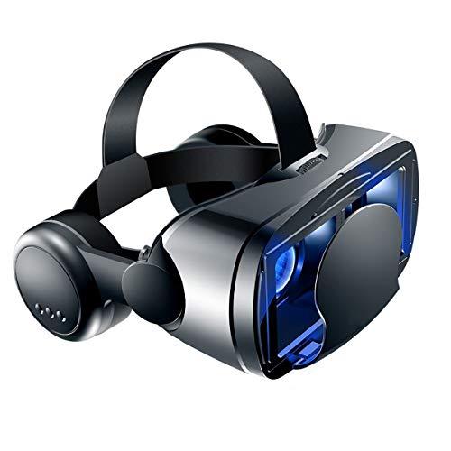 QYXM Virtual Reality Headset, VR 3D Gafas para Juegos Móviles Y Películas De Alta Definición De Realidad Virtual De Auriculares con Mando A Distancia, Compatible con 5-7 Pulgadas De Teléfonos Móviles