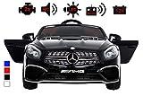 Kinderelektroauto - Mercedes SL 65 AMG - 2 Motoren - Kinderfahrzeug Lizenz Fernbedienung -Schwarz