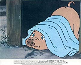Charlotte's Web Original Lobby Card British Hanna-Barbera Cartoon Animation Pig