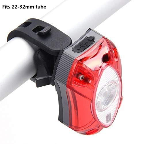 Luces traseras de la Bicicleta Safety taillights Bicicleta luz Trasera luz de la Bicicleta Montar a Prueba de Agua y Seguro (Color : White)