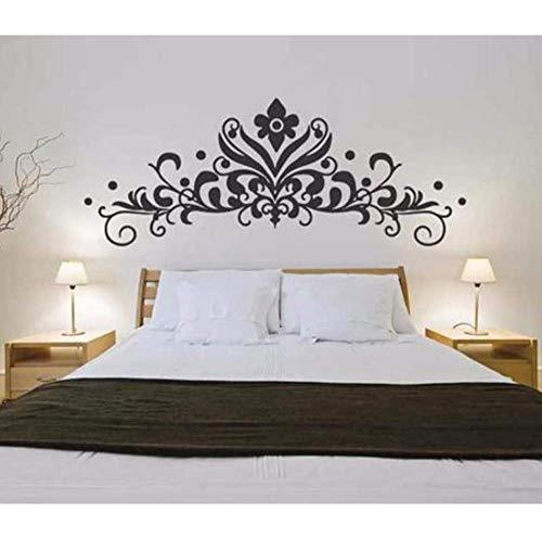 Barock Kopfteil Wandtattoo Aufkleber Schlafzimmer Dekorative Wandbild Abnehmbare Vinyl Blumen Wandaufkleber Wohnkultur Wohnzimmer D531 57 * 22Cm