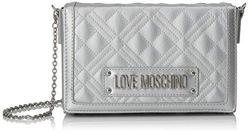 Love Moschino Jc4054pp1a, Borsa a Tracolla Donna, Argento (Argento), 5x13x20 cm (W x H x L)