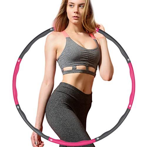 Socluer Hula Hoop Reifen mit Schaumstoff ca 1 kg Gewichten beschwerter Hula-Hoop-Ring zur Gewichtsreduktion für Fitness