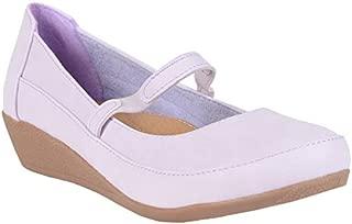 ESTATOS Synthetic Leather Front Strap Platform Heeled Olive/Green bellerina/Shoes