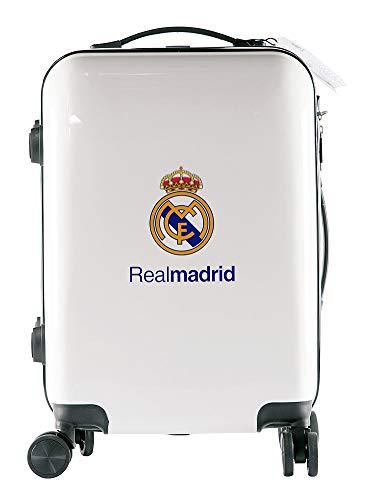 Real Madrid Maleta Equipaje de Mano - Producto Oficial del Equipo, Rígida y con Sistema de Cierre de Seguridad TSA