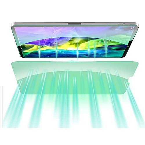 Helikim Protector de Pantalla para Tableta, Vidrio Templado para iPad, dureza 9H, Resistente al Rayado táctil, fácil de Instalar para iPad Pro de 11 Pulgadas (Modelo 2020 2018)