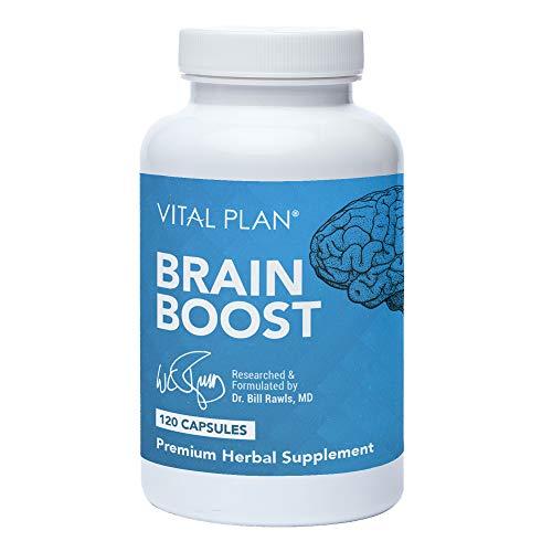 Vital Plan Brain Boost Supplement by Dr. Bill Rawls – Brain Boosting Capsules w/ Lion's Mane, Cat's Claw, Bacopa, Sensoril Ashwagandha & Ginkgo Biloba