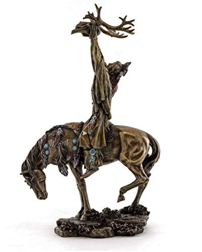 10' Crow Indian Riding Horse w/ Elk Spirit Indio Native American Sculpture