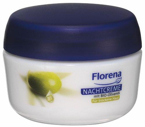 Florena Nachtcreme mit Bio Olivenöl für trockene Haut, 1er Pack (1 x 50 ml)