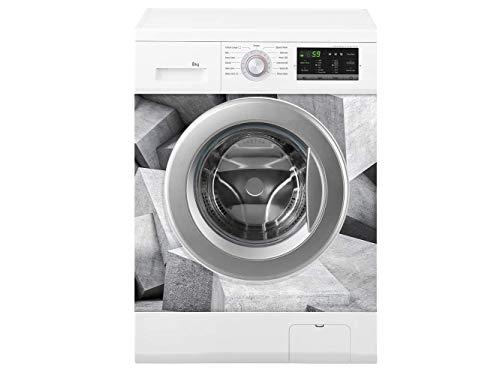 Oedim Waschmaschine kubische Struktur | Verschiedene Maße 70 x 70 cm | Beständiger und leicht aufzutragender Klebstoff | Eleganter Entwurfs-dekorativer klebender Aufkleber