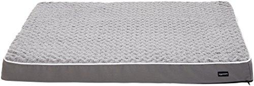 Amazon Basics Ergonomic Foam Pet Dog Bed, 35 x 44 Inches, Grey