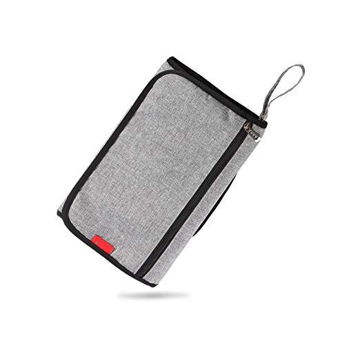 WangQianNan Plegable Recién Nacido Viaje Multifuncional Impermeable Portátil Pañal Bolsa Bebé Cambio de Mesa Cojín Plegable Esenciales de Viaje (Color : Gray)