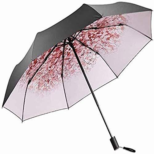sombrilla Paraguas Compacto De Protección UV Paraguas para Mujer Ultraligero Sombrilla Plegable para 2 Personas Paraguas Negro Fácil De Llevar Paraguas Soleado