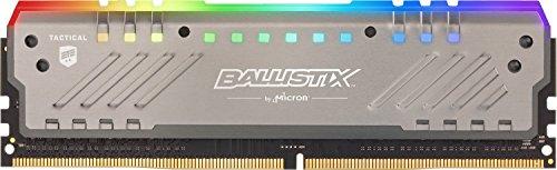 Crucial Ballistix Tactical Tracer BLT8G4D26BFT4K RGB 8GB Desktop Gaming Speicher (2666 MHz, DDR4, DRAM, CL16)